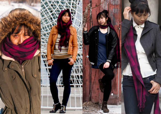 One Scarf, Four Outfits